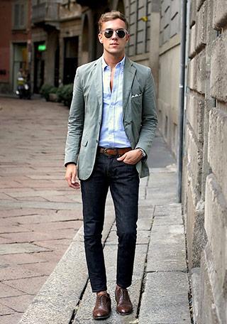 上品でトラッド感のある「3ボタンジャケット」を使ったカジュアルな着こなし。 品のある3ボタンのインナーは、やはりシャツが1番好印象ですね。