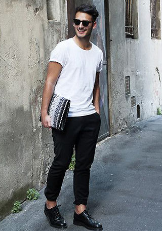 白Tシャツ×黒パンツ【夏のモノトーンコーディネート】